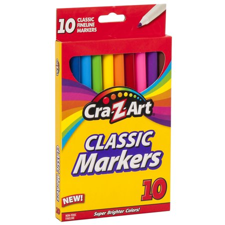 Cra-Z-Art Classic Fineline School Markers - 10 Count