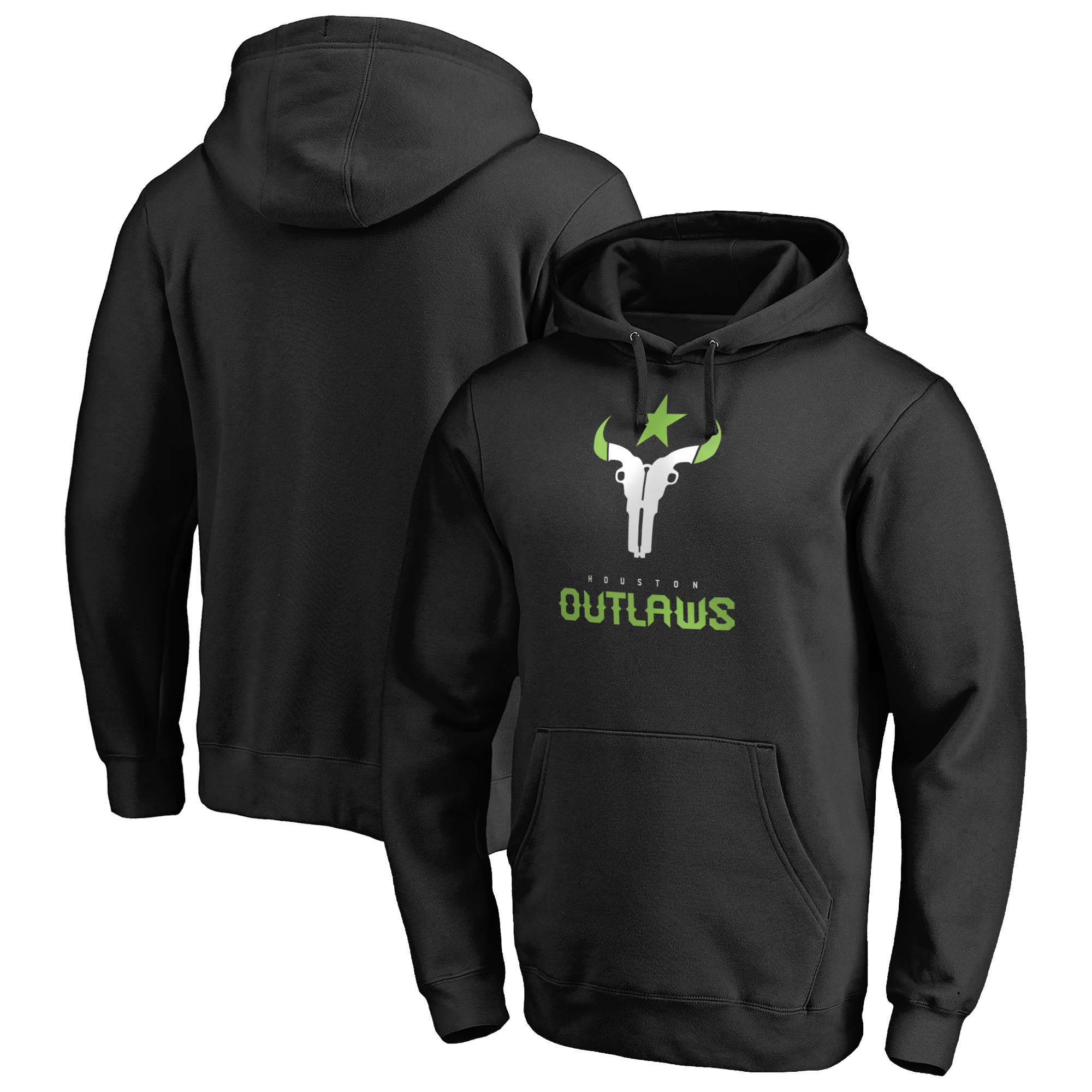 Houston Outlaws Fanatics Branded Team Identity Pullover Hoodie - Black