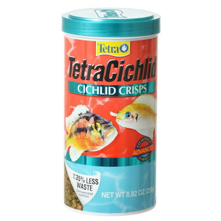 TetraCichlid Cichlid Crisps 8.82 Ounces, Fish Food, Clear Water Advanced
