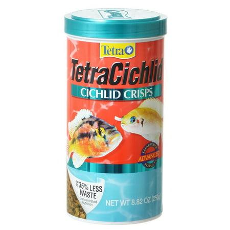 Cichlid Fish - TetraCichlid Cichlid Crisps 8.82 Ounces, Fish Food, Clear Water Advanced