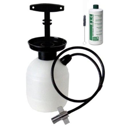 Kegco Deluxe Hand Pump Pressurized Keg Beer Cleaning Kit w 32 oz. Cleaner ()