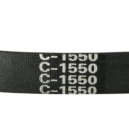 C-1550/C61 Drive V-Belt Inner Girth 61-inch Industrial Power Rubber Transmission Belt - image 1 of 4