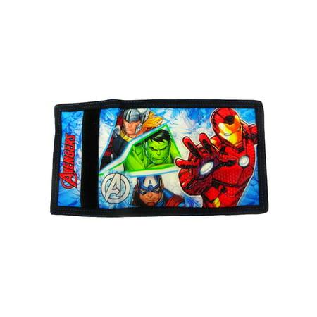 Boys Marvel Avengers Tri-Fold Wallet Iron Man Captain America Thor