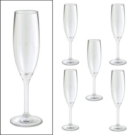 6 strahl design 5oz champagne glasses flutes unbreakable polycarbonate set bulk. Black Bedroom Furniture Sets. Home Design Ideas