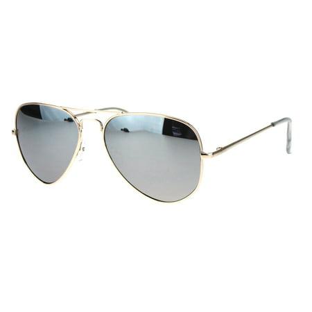 e951f80a970 SA106 - Mens Silver Reflective Mirror Lens Classic Police Style Aviator  Sunglasses Gold - Walmart.com