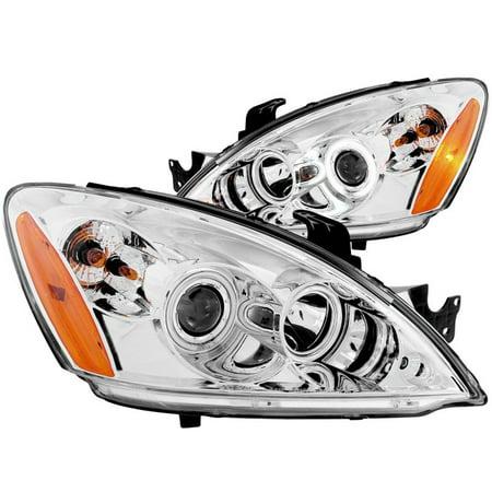 ANZO 2004-2007 Mitsubishi Lancer Projector Headlights w/ Halo Chrome (CCFL)