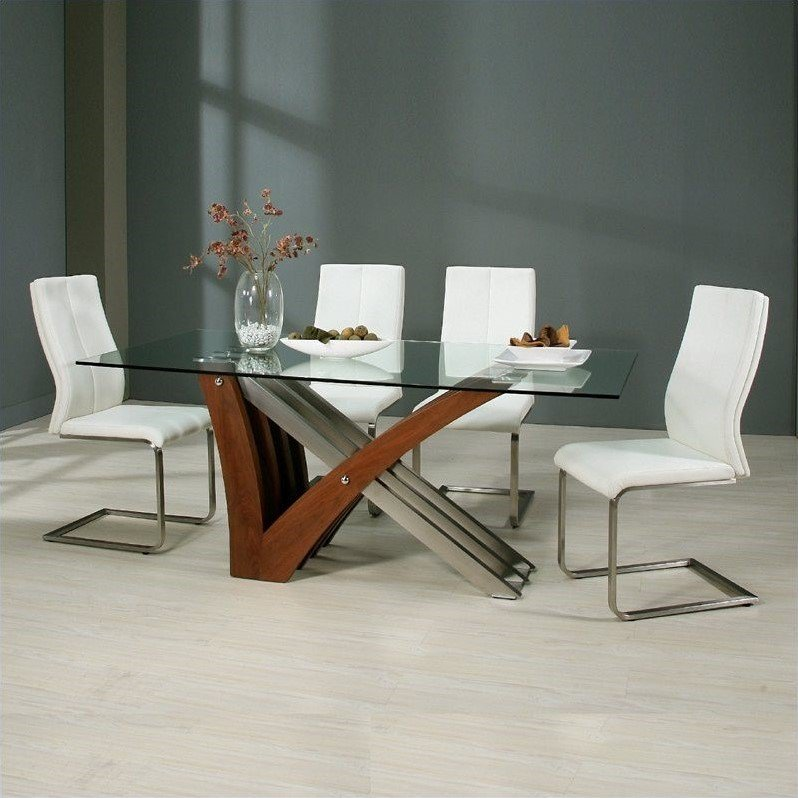 Pastel Furniture Akasha 5 Piece Dining Room Set w  Olander Chairs by Pastel Furniture