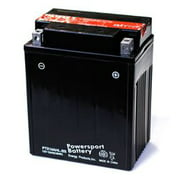 Replacement for YTX14AHL-BS 12 VOLTS, 12 AH, SEALED LEAD ACID POWER SPORT BATTERY , NUT and BOLT CONNECTOR replacement battery
