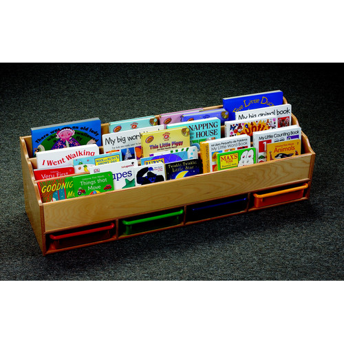 Childcraft 10 Compartment Book Display with Trays