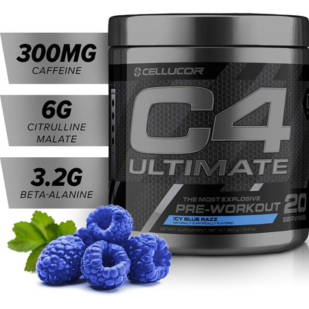 Cellucor C4  Icy Blue Razz Ultimate Pre-workout Dietary Supplement For Men & Women, 20 Servings - image 1 de 5