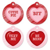 Conversation Hearts - Valentine's Day Party Favor Tags (Set of 20)