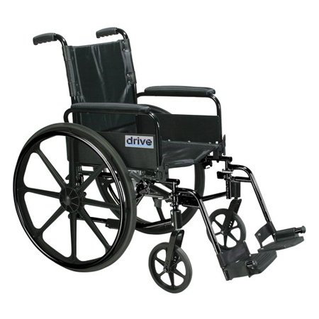 "Drive Medical Cirrus IV Lightweight Dual-Axle Wheelchair with Adjustable Arms, Detachable Full Arms, Swing Away Footrests, 20"" Seat"