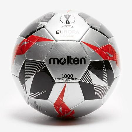 Molten UEFA Europa League Soccer Ball Official Series 1000 Size 5 Silver Premier League Soccer Ball