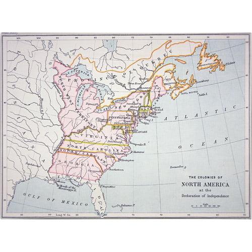Trademark Art 'N. America, Declaration of Intependence' Canvas Art