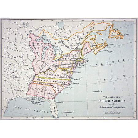 Trademark Art 'N. America, Declaration of Intependence' Canvas Art