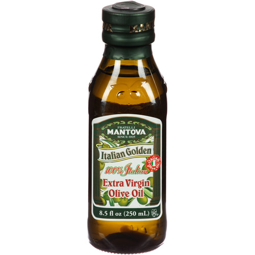 Mantova Italian Golden Extra Virgin Olive Oil, 8.5 fl oz, (Pack of 12)