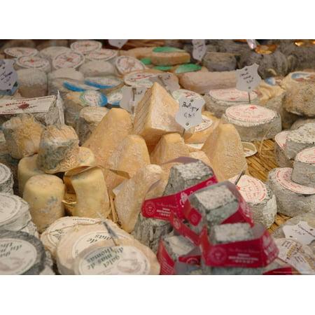 Cheese Shop - Cheese Variety in Shop, Paris, France Print Wall Art By Lisa S. Engelbrecht