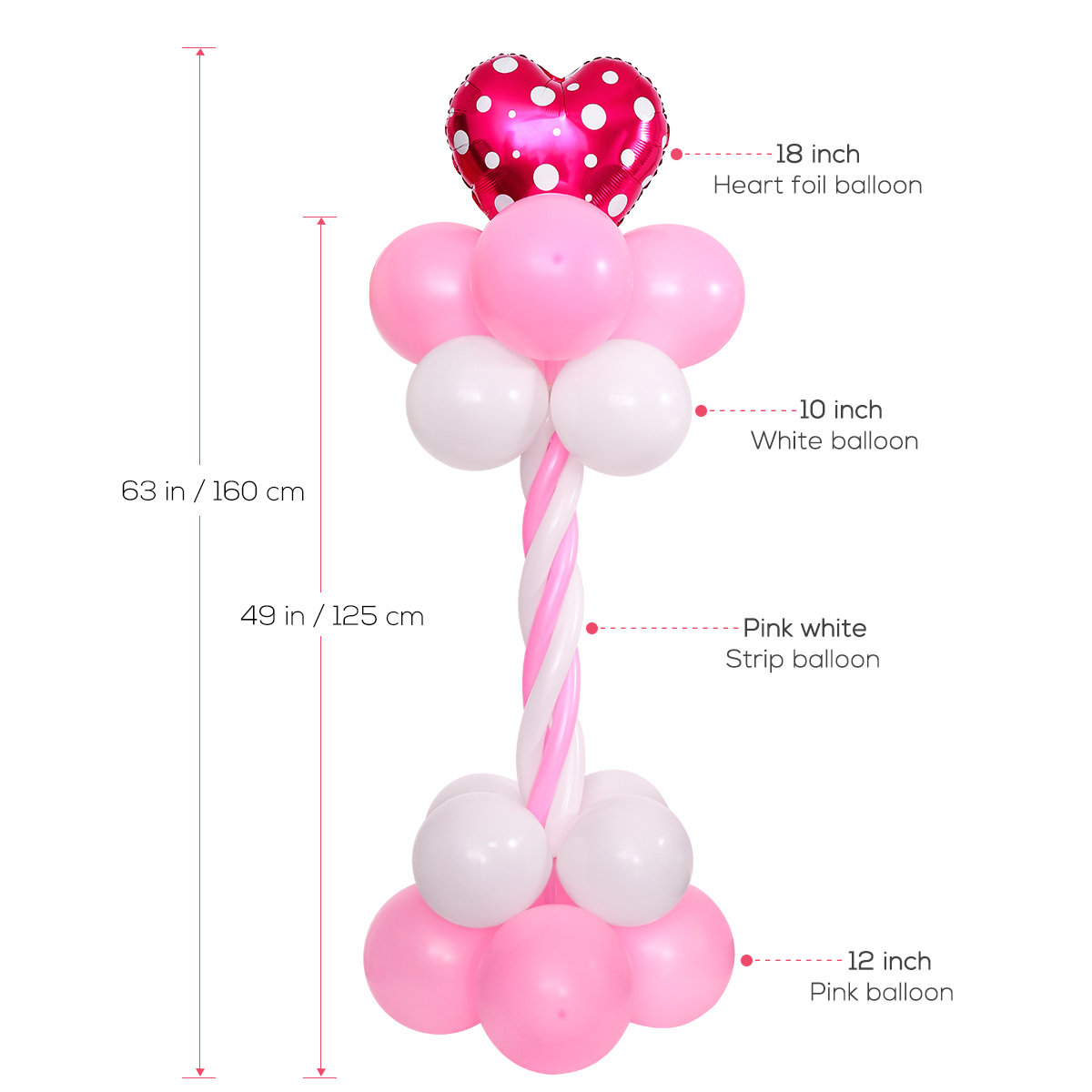 NUOLUX 50pcs Balloon Arch Connectors Clip Ring Buckle Flower For Party...