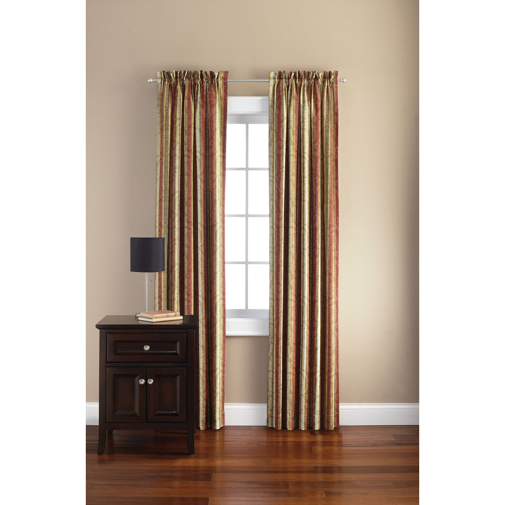 Mainstays Canvas Damask Curtain Panel