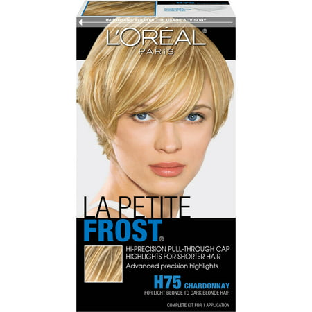L'Oreal Paris Le Petite Frost Hi-Precision Pull-Through Cap Highlights For Shorter Hair - Bald Cap With Hair On Sides