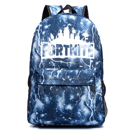 Game Fortnite Battle Royale Backpack Luminous Fortnite School Bags Lighting gray](Hamburger Backpack)
