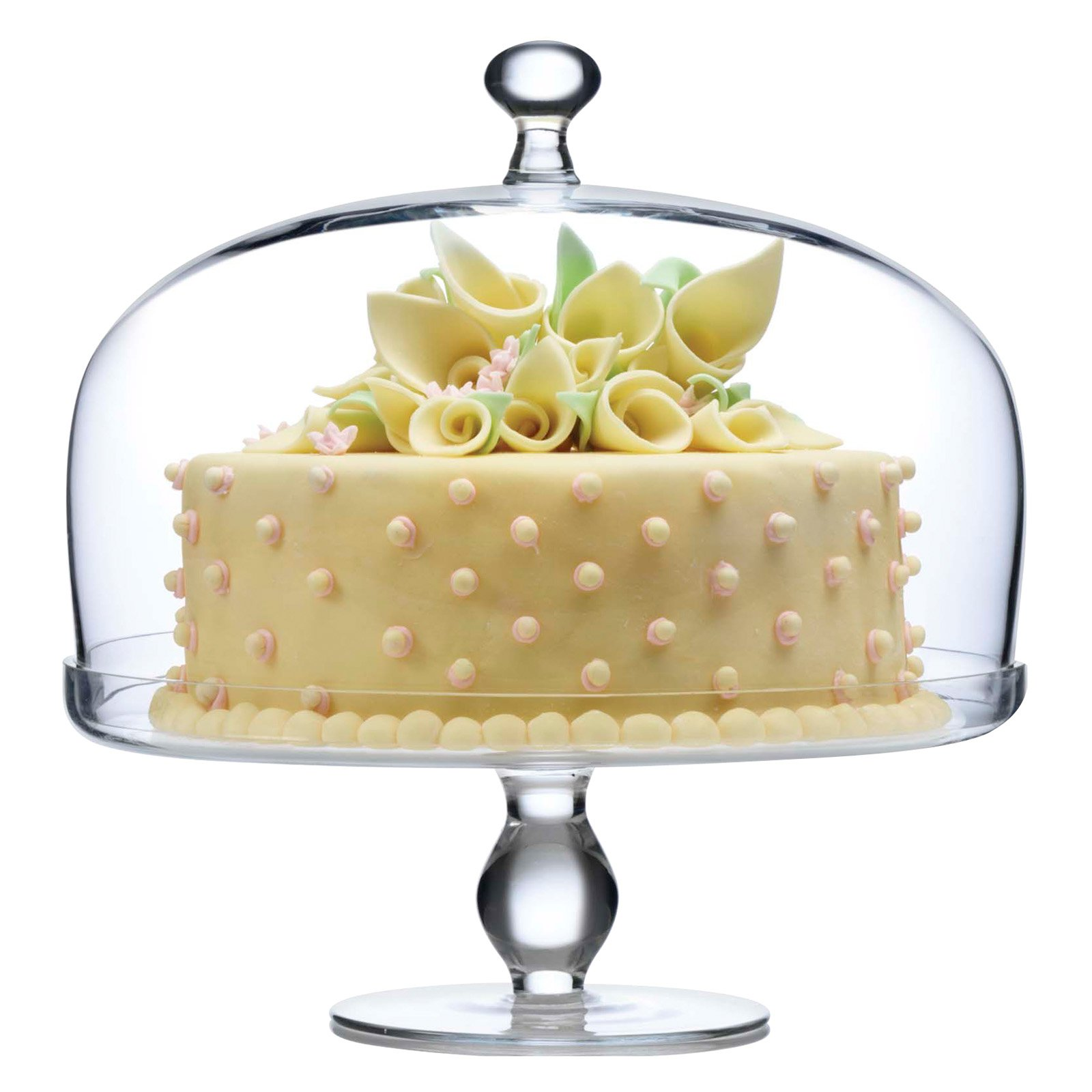 Luigi Bormioli Michelangelo Glass Footed Glass Cake Plate with Dome