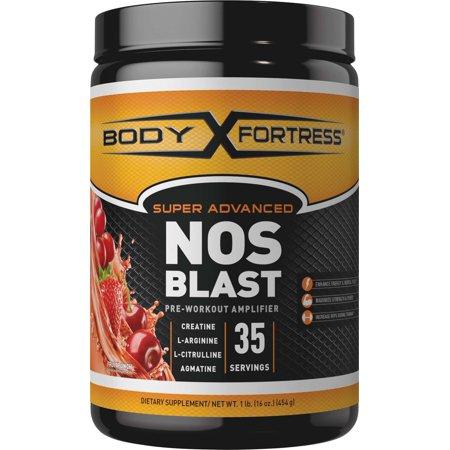 Body Fortress Super Advanced NOS Blast Powder, Fruit Punch, 35