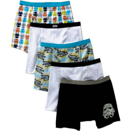 Star Wars Boys Boxer Briefs, 5 Pack