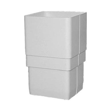 - Genova Products RW203 Downspout Gutter Coupler, White Vinyl