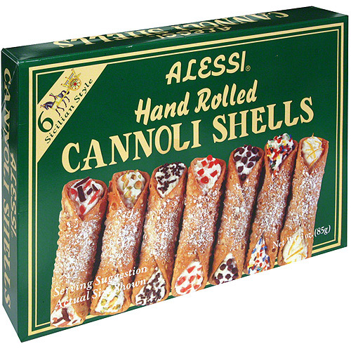 Alessi Hand-Rolled Cannoli Shells, 4 oz (Pack of 12)