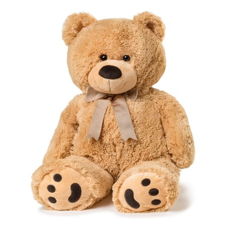 Joon Big Teddy Bear, Tan - Cheap Big Teddy Bears
