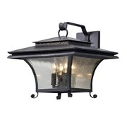 Troy Lighting B5143 Grammercy - Four Light Large Outdoor Wall Lantern, Forged Iron Finish