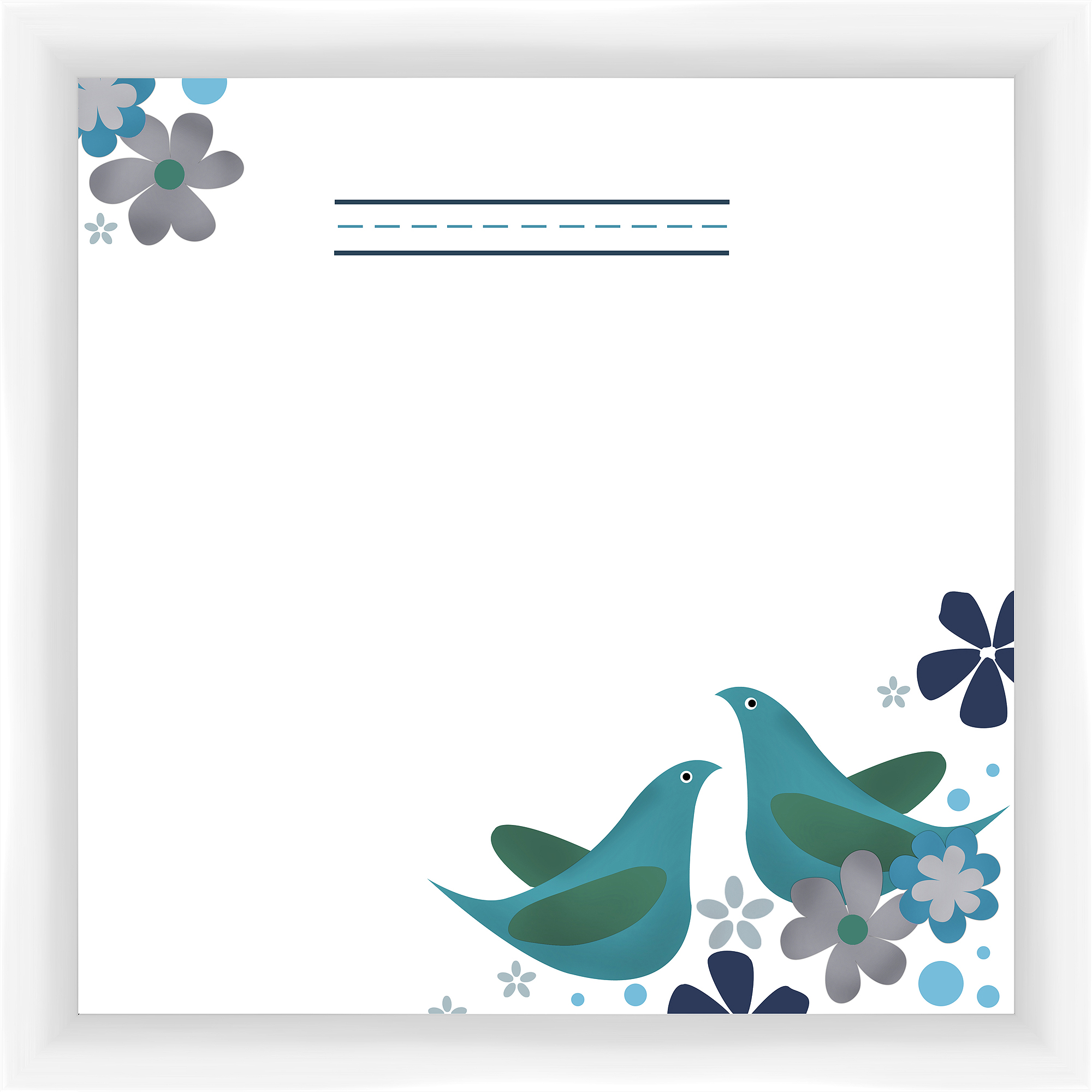 Blue Birds II Memoboard