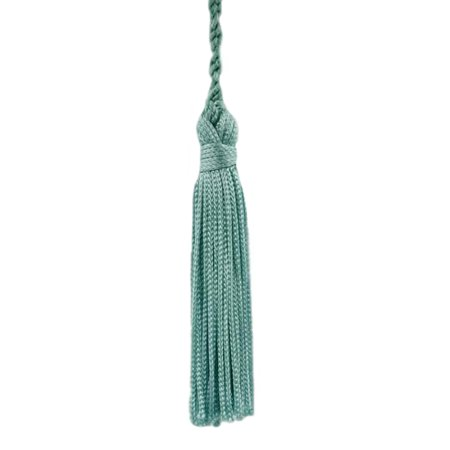 Set of 10 Light Aqua  Blue Chainette Tassel, 3 Inch Long with 1 Inch Loop, Basic Trim Collection Style# RT03 Color: Ocean Blue - M17