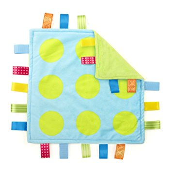 Taggies Colors Lovey Baby Security Blanket, POLKA DOTS