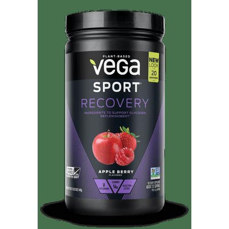 Vegas 20 Piece - Vega Sport Vegan Recovery Powder, Apple Berry, 1.2 Lb, 20 Servings