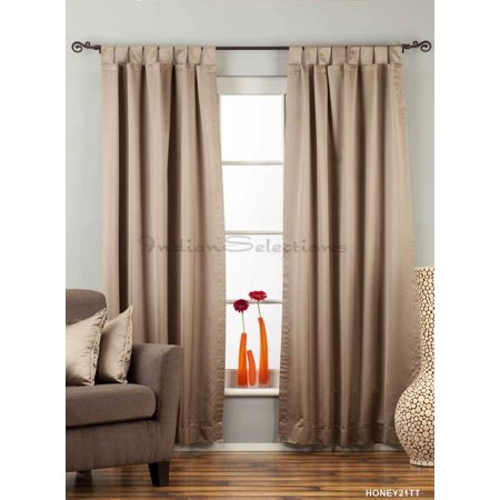 Cleveland Indians Window - Brownish Gray Tab Top 90% blackout Curtain / Drape / Panel  - Piece
