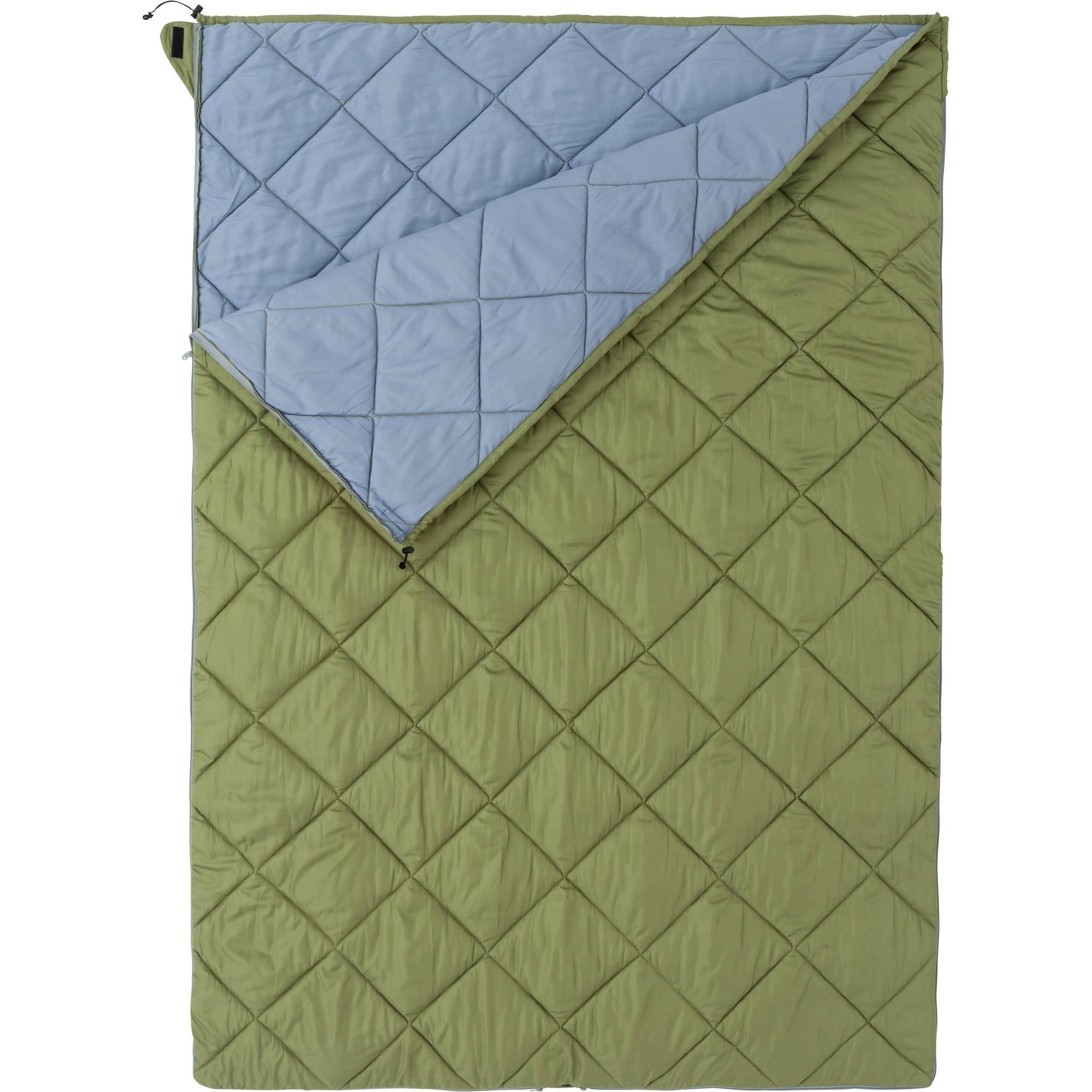 Ozark Trail ENV Camper Double Bag 40F Sleeping Bag, Green by Generic