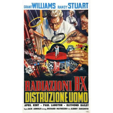 The Incredible Shrinking Man Grant Williams Italian Poster Art 1957 Movie Poster Masterprint