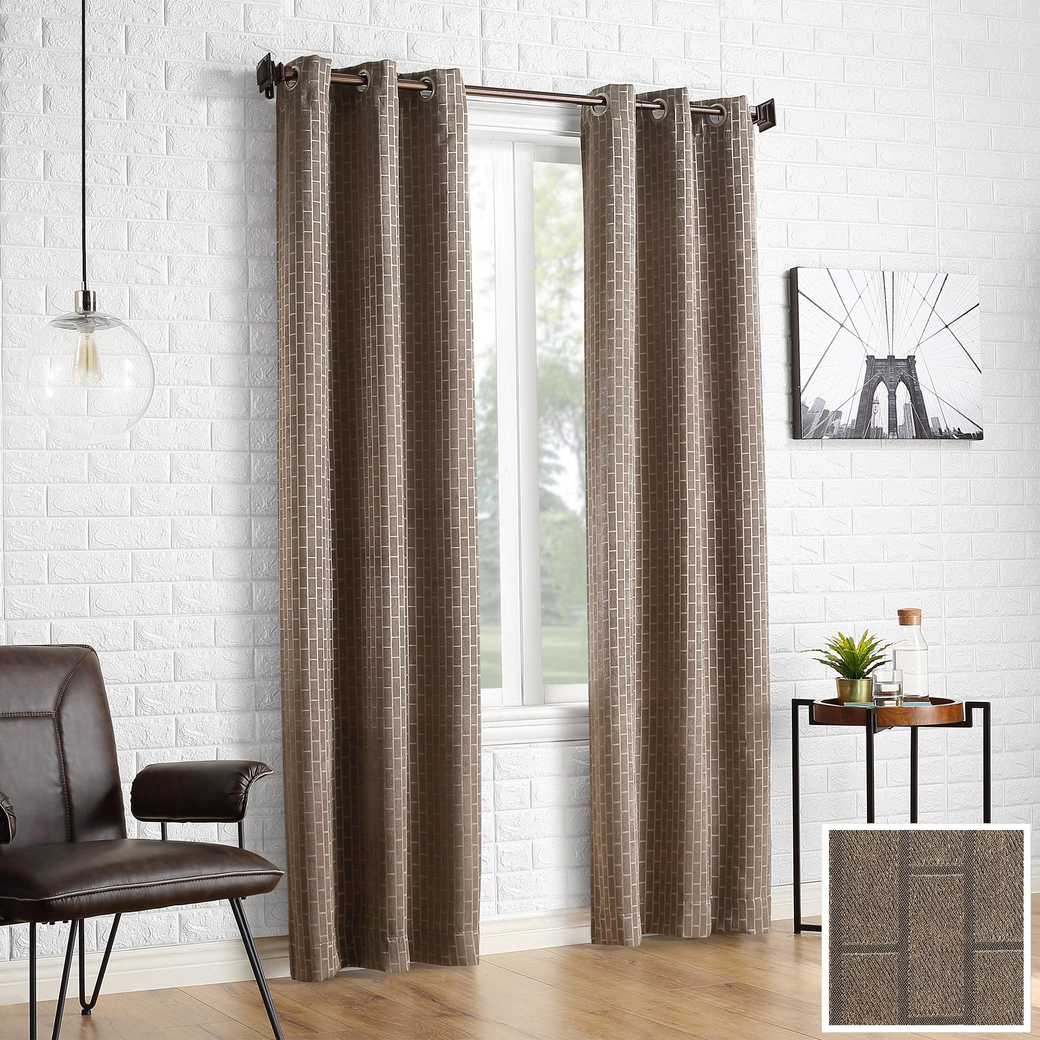 Sun Zero 2-pack Stockton Tile Jacquard Blackout Grommet Curtain Panel Pair