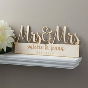 Mrs. and Mrs. Personalized Wood Plaque