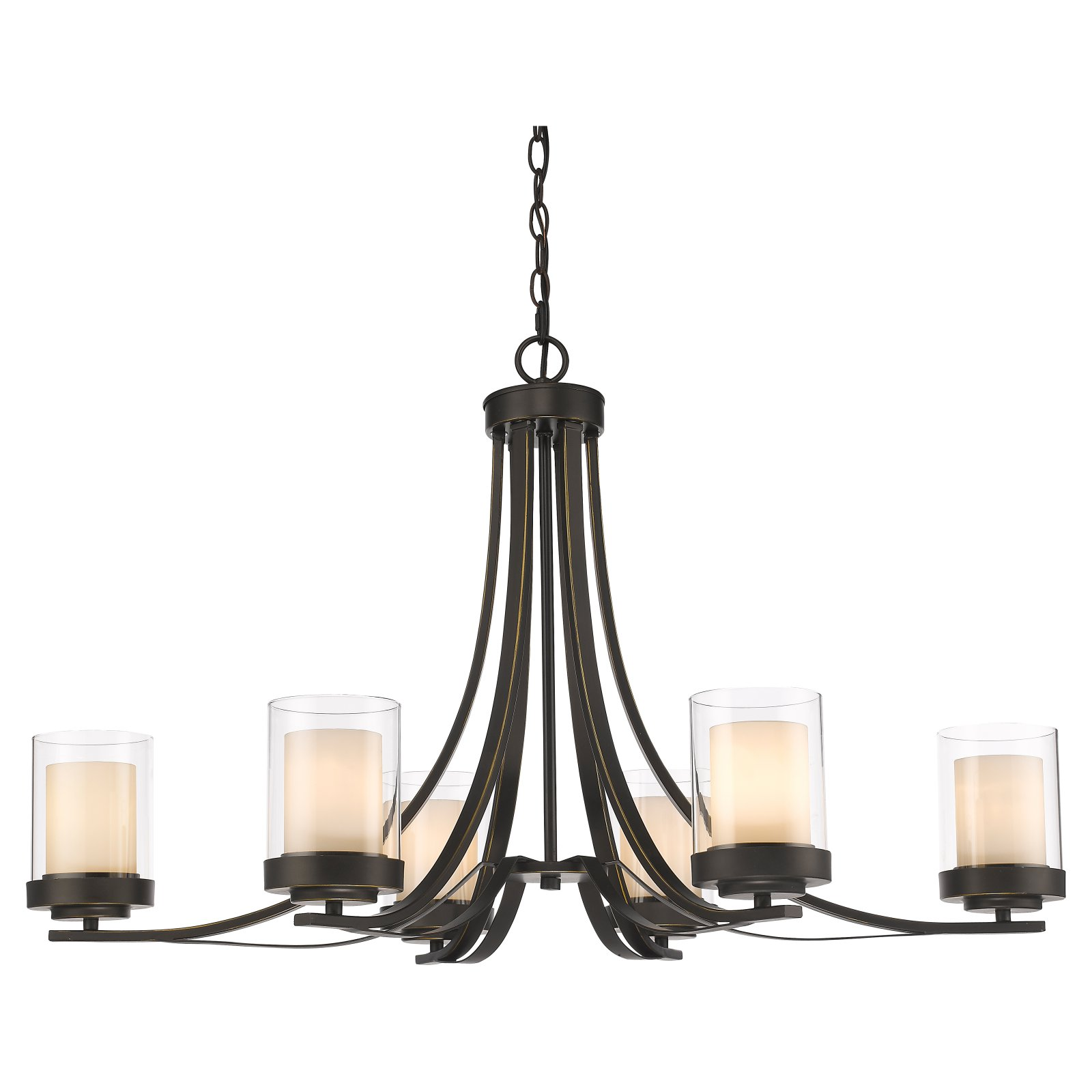 Z-Lite Willow 6-Light Chandelier, Chrome by Z-Lite