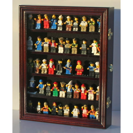 LEGO Minifigures Dimensions Display Case Thimble Wall Cabinet LG-CN30 - Mahogany Steel Cabinet