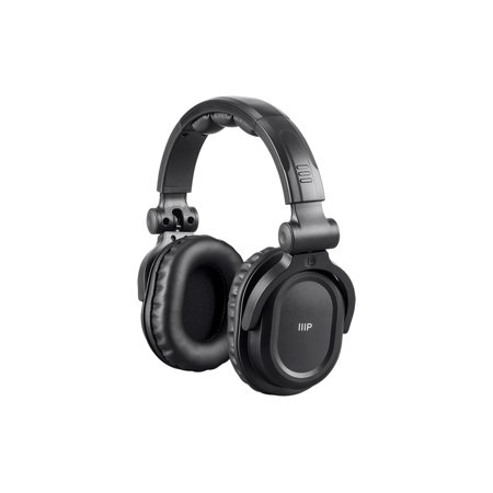 Monoprice Premium Hi-Fi DJ Style Over-the-Ear Pro Bluetooth Headphones With Mic And Qualcomm aptX Support (8323 With Bluetooth) (Monoprice Dj)