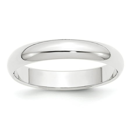 Platinum 4mm Half Round Featherweight Band Ring Size 9 Fine Jewelry Ideal Gifts Valentine's Day