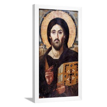 Christ Pantocrator Framed Print Wall -