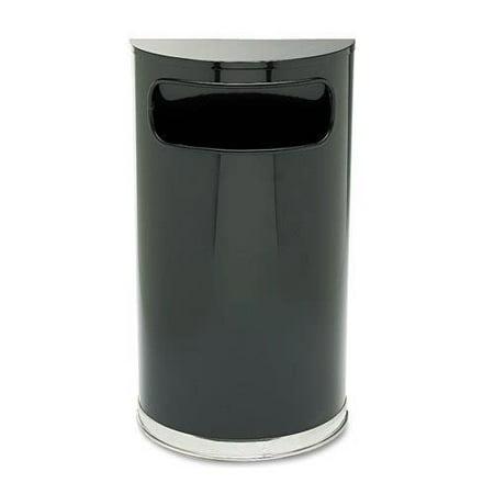 Walmart Outdoor Trash Cans Custom Rubbermaid Round Metal Outdoor Trash Can Black Each Walmart