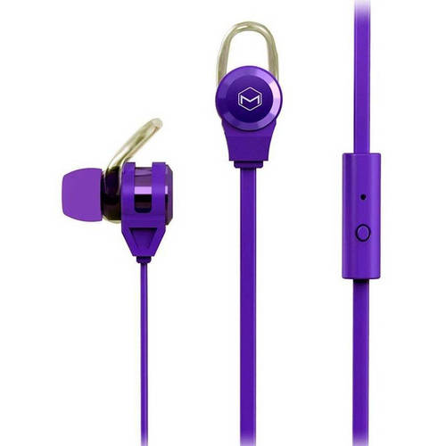 MQbix Platinum2 High Performance Secure-Fit Earphones with Tangle-Free Flat Cable and Mic