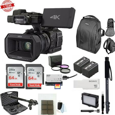 Panasonic HC-X1000 4K Cinema Camcorder + 2x 64GB Memory Cards + Accessory