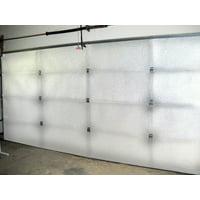 NASATECH Warehouse 10ft x 10ft White garage Door Kit 5 Panels